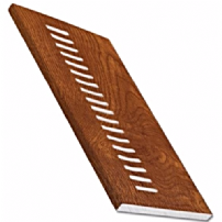 Golden Oak uPVC Vented Soffit Board 9mm 5mt